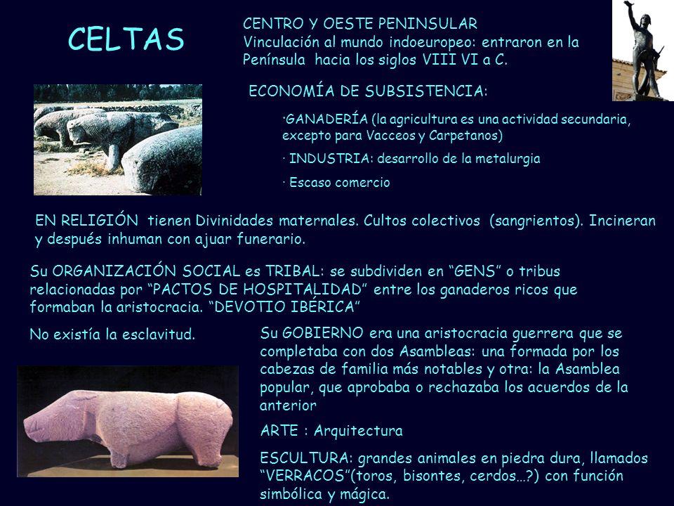 CELTAS CENTRO Y OESTE PENINSULAR