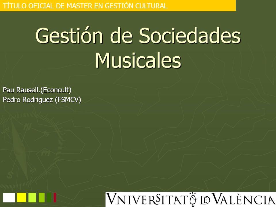 Gestión de Sociedades Musicales