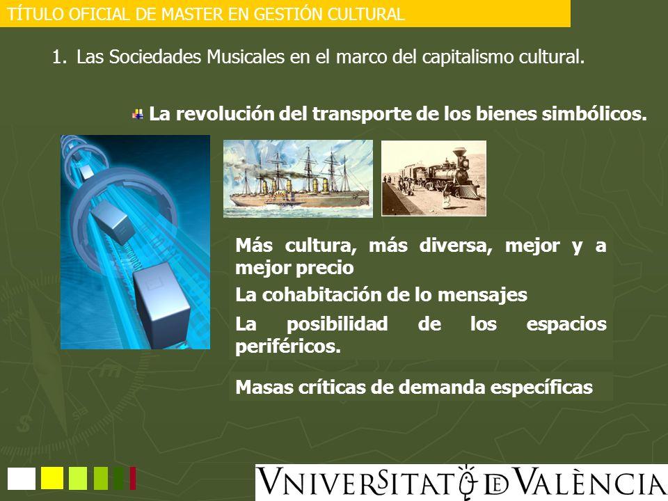 Las Sociedades Musicales en el marco del capitalismo cultural.