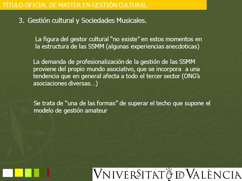 Gestión cultural y Sociedades Musicales.