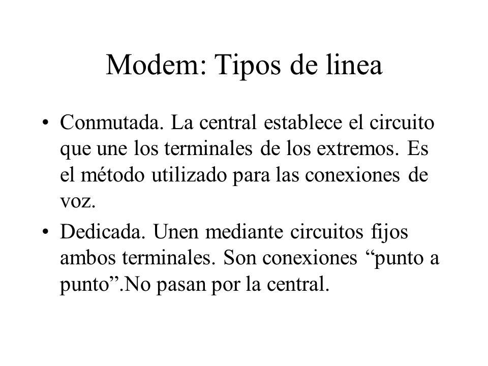 Modem: Tipos de linea