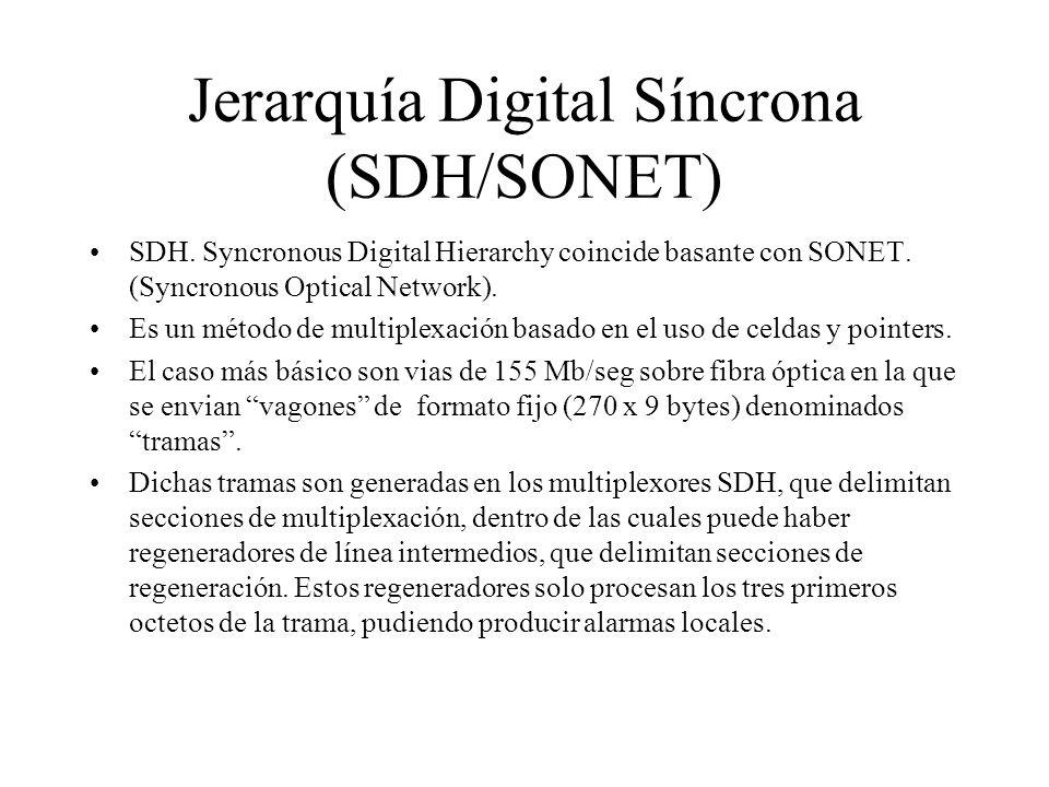 Jerarquía Digital Síncrona (SDH/SONET)