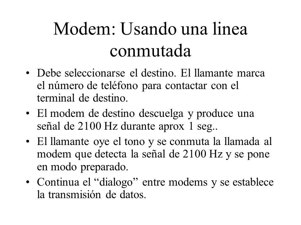 Modem: Usando una linea conmutada