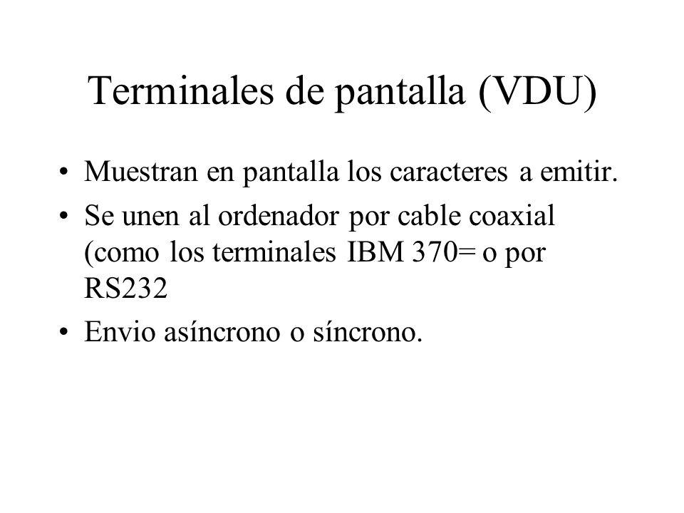 Terminales de pantalla (VDU)