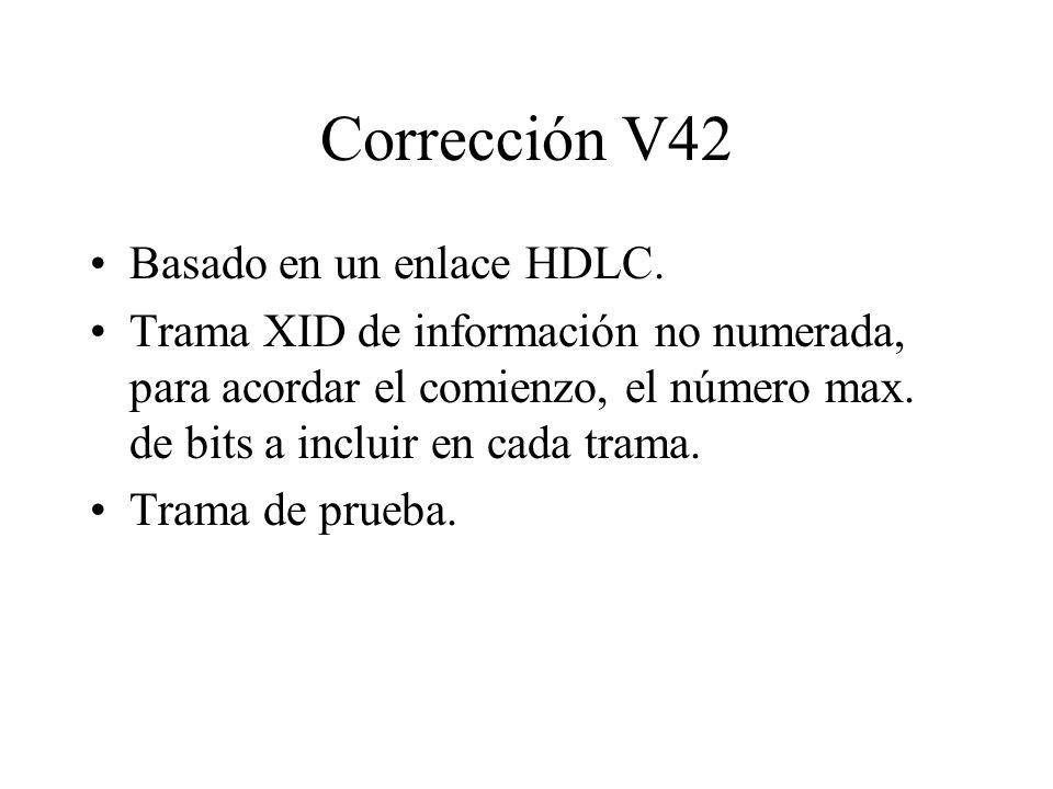 Corrección V42 Basado en un enlace HDLC.