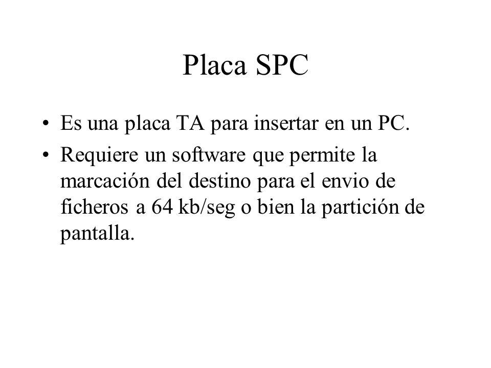 Placa SPC Es una placa TA para insertar en un PC.