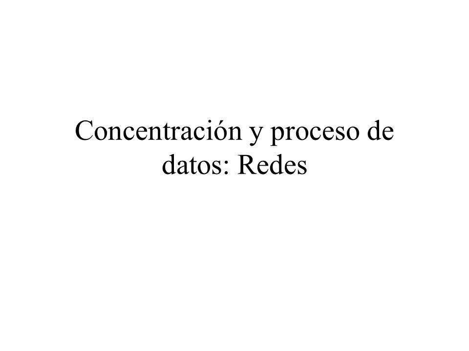 Concentración y proceso de datos: Redes