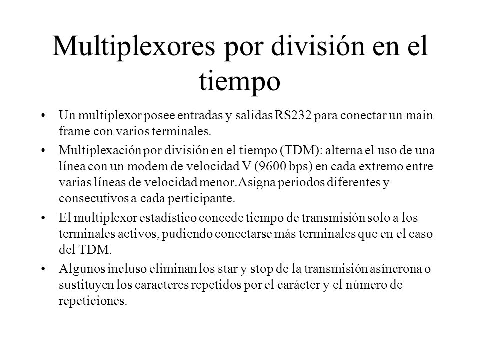 Multiplexores por división en el tiempo