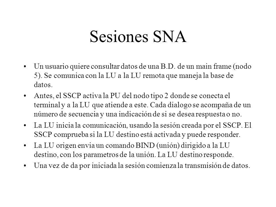 Sesiones SNA