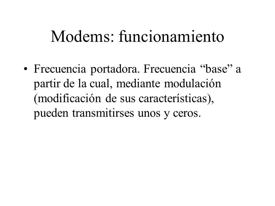 Modems: funcionamiento