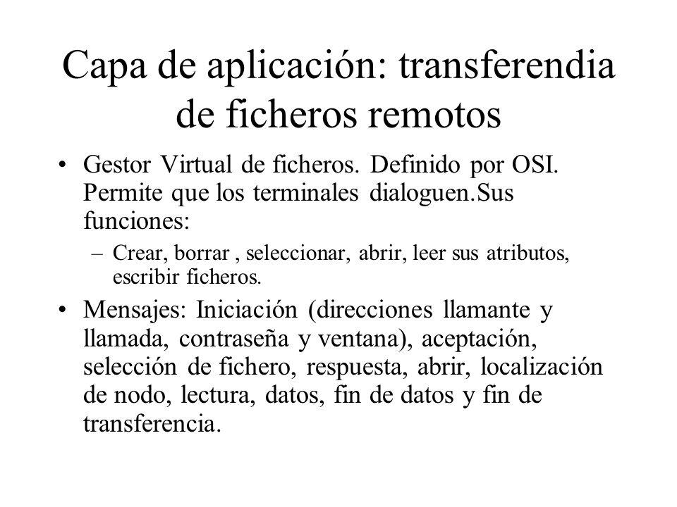 Capa de aplicación: transferendia de ficheros remotos