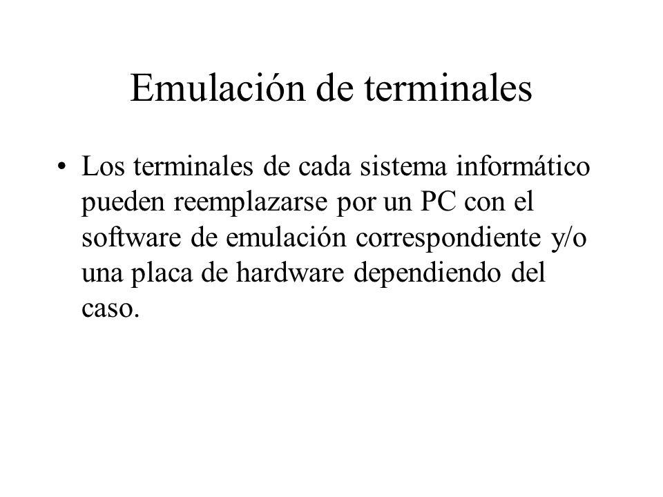 Emulación de terminales