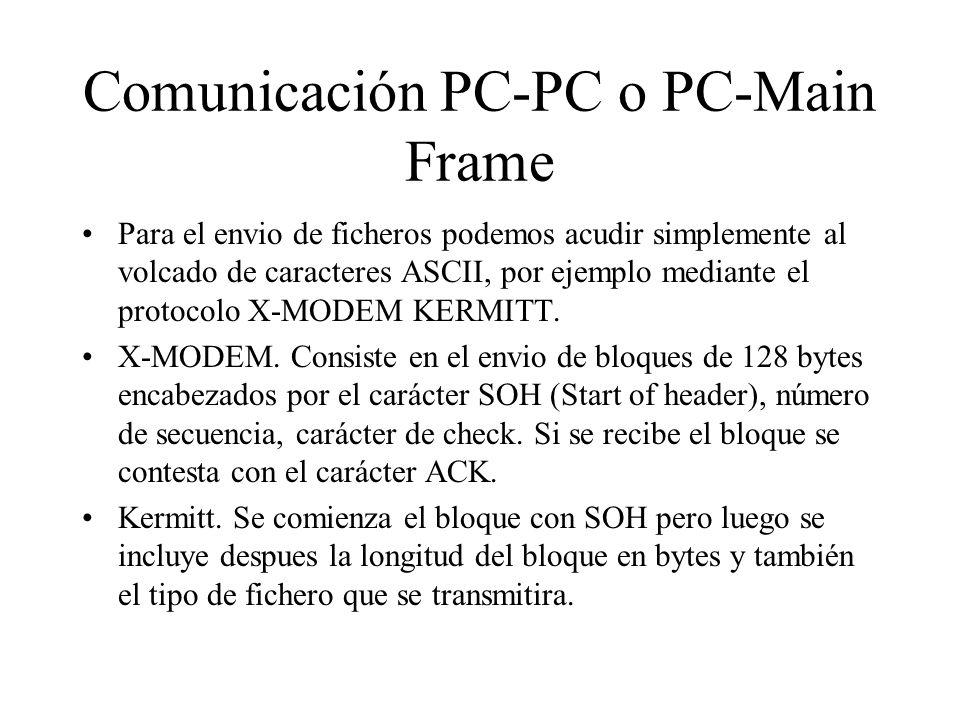 Comunicación PC-PC o PC-Main Frame