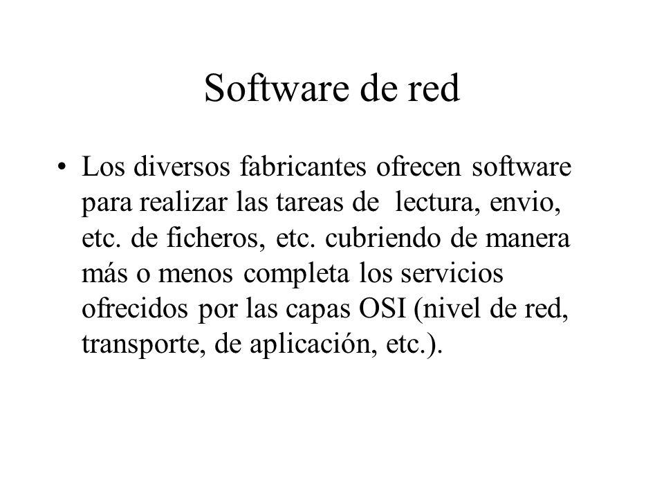 Software de red