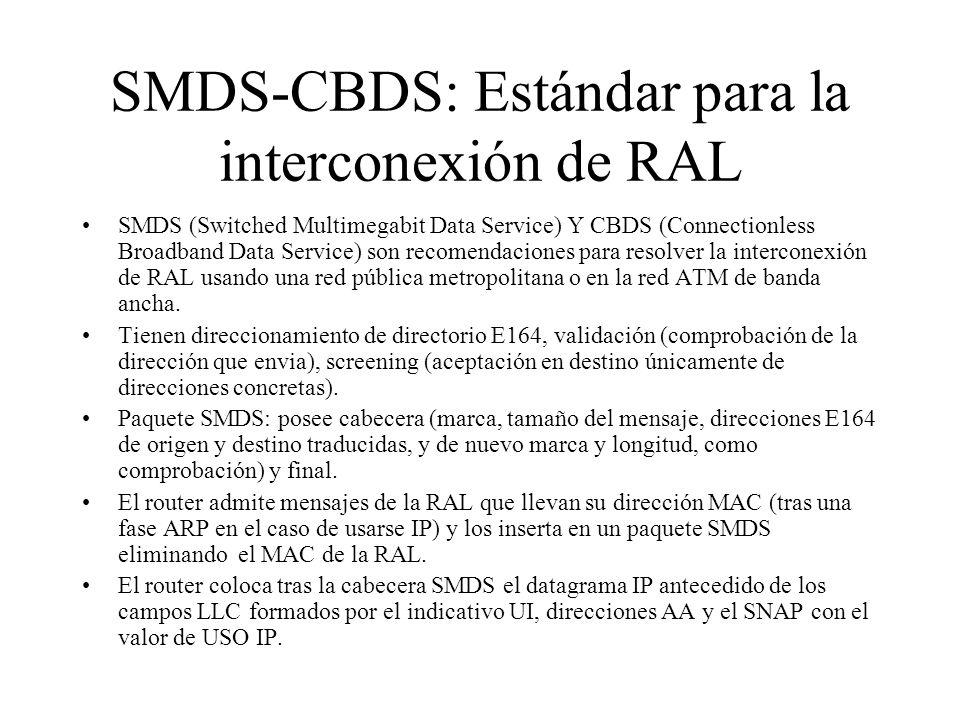SMDS-CBDS: Estándar para la interconexión de RAL