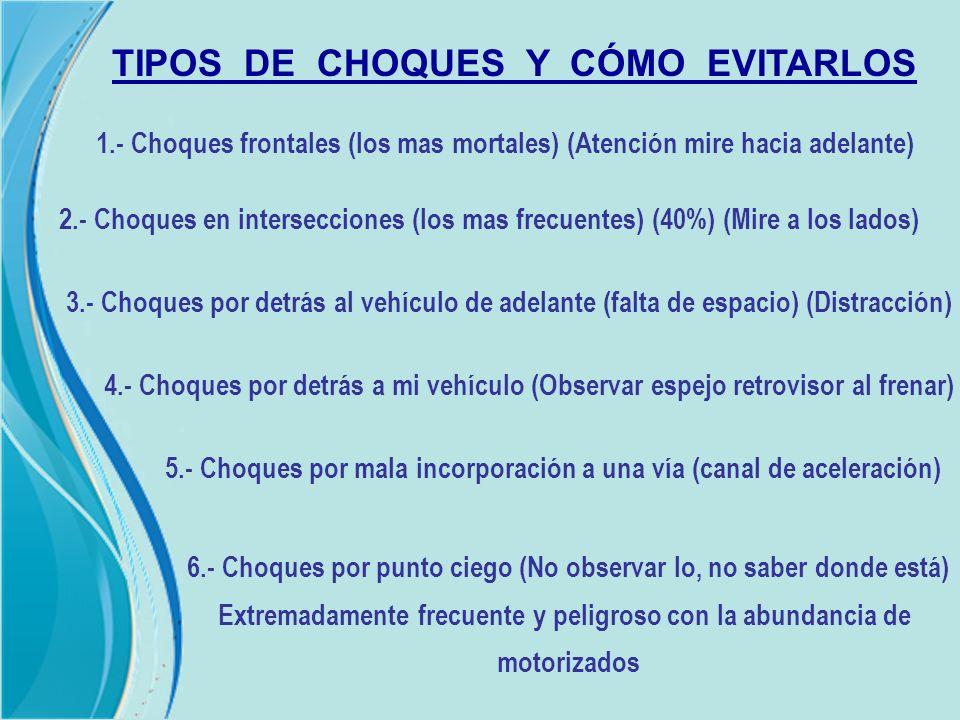TIPOS DE CHOQUES Y CÓMO EVITARLOS