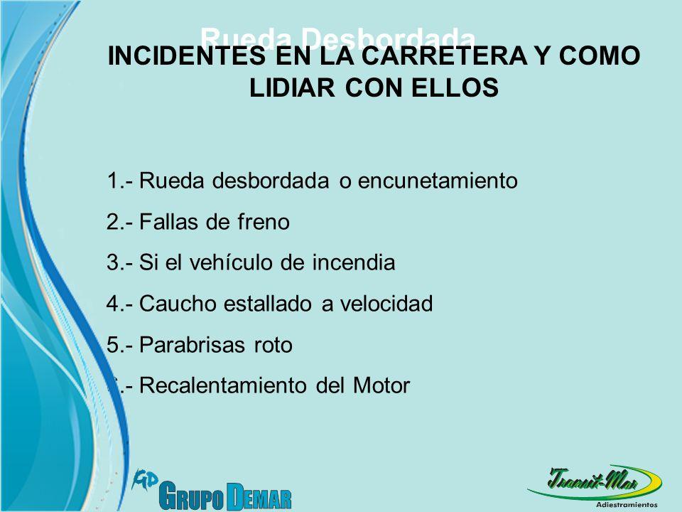 INCIDENTES EN LA CARRETERA Y COMO LIDIAR CON ELLOS