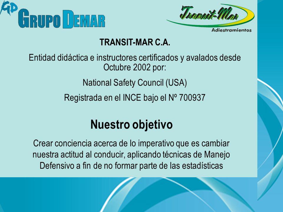 Nuestro objetivo TRANSIT-MAR C.A.