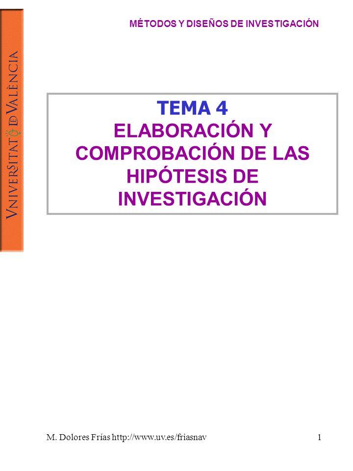 ELABORACIÓN Y COMPROBACIÓN DE LAS HIPÓTESIS DE INVESTIGACIÓN