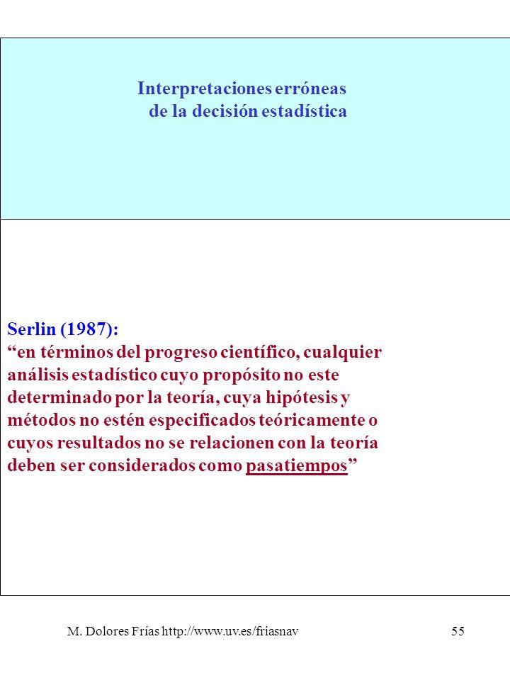 1. La hipótesis sustantiva=hipótesis estadística