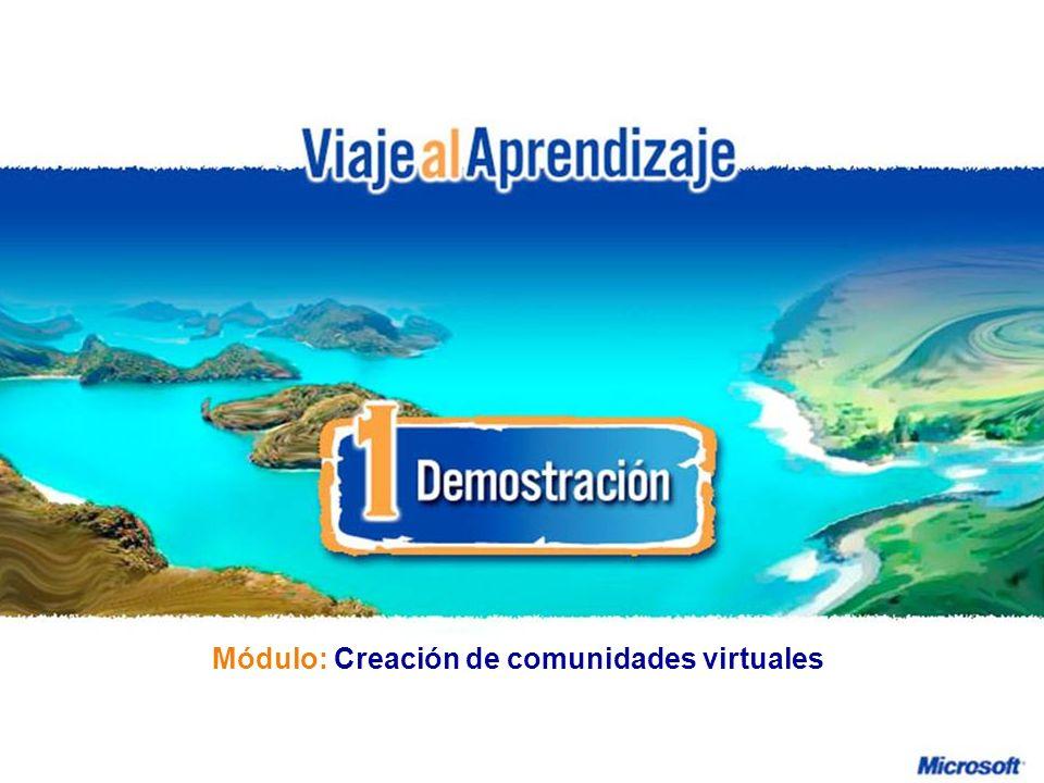 Módulo: Creación de comunidades virtuales