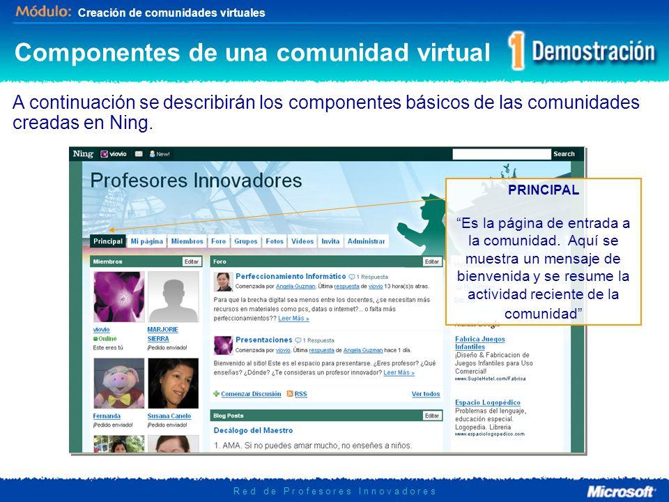 Componentes de una comunidad virtual