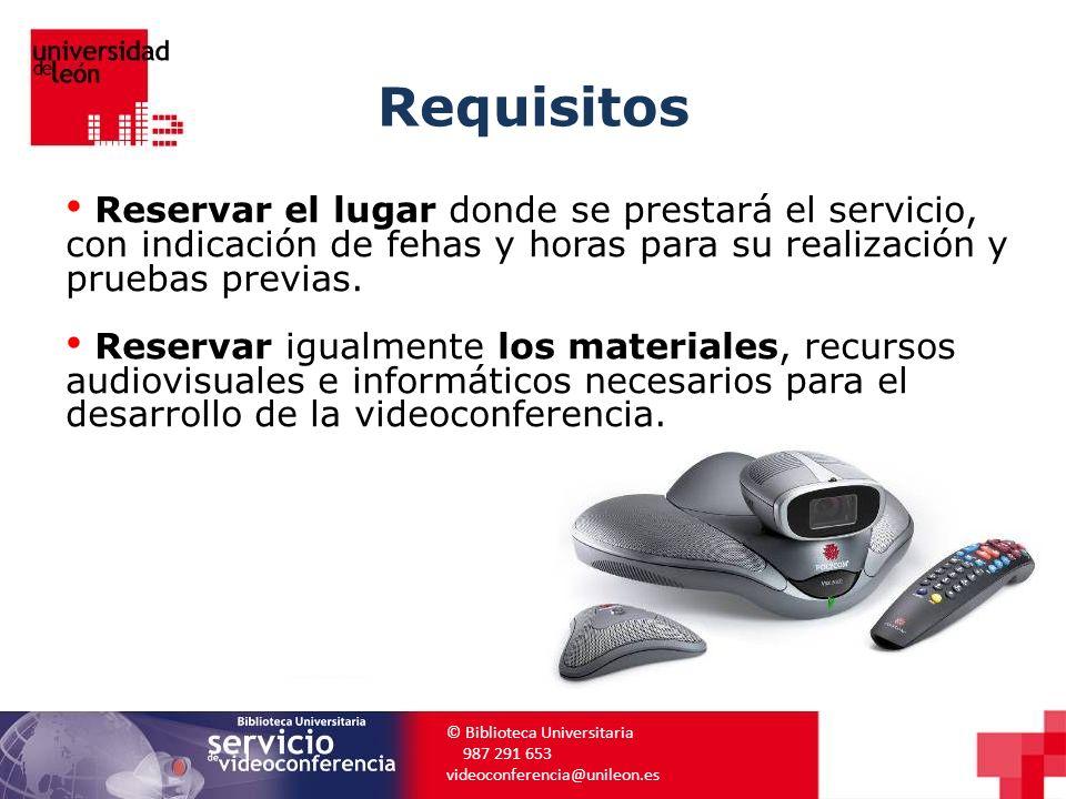 Requisitos Reservar el lugar donde se prestará el servicio, con indicación de fehas y horas para su realización y pruebas previas.