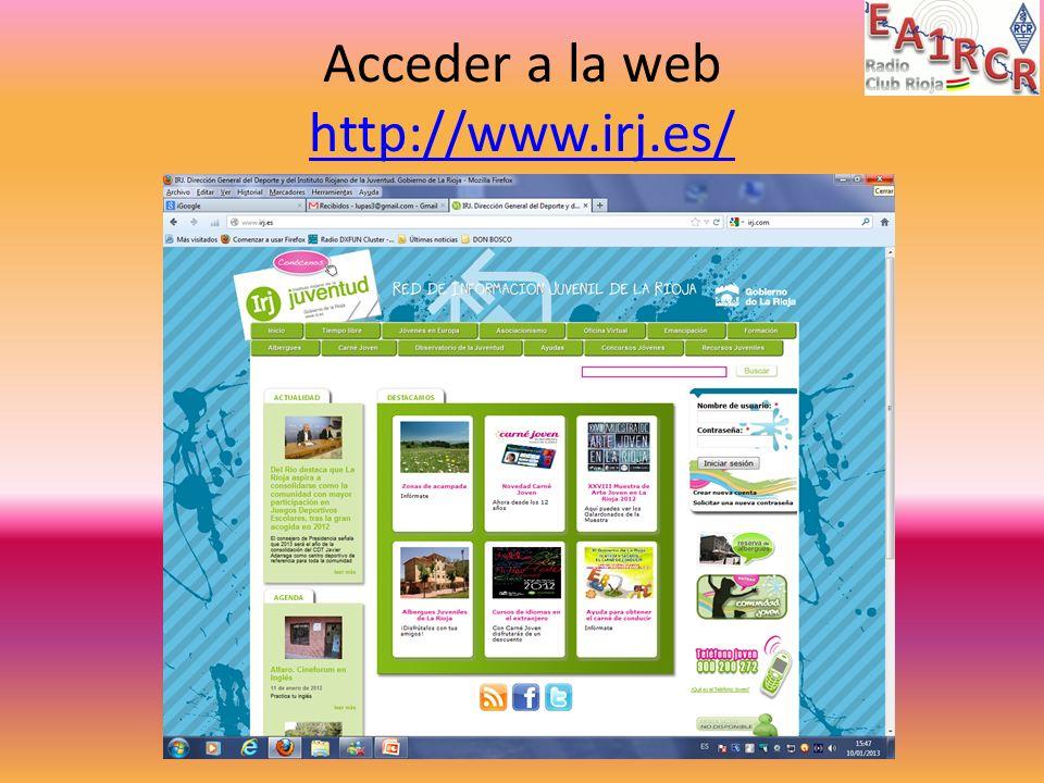 Acceder a la web http://www.irj.es/