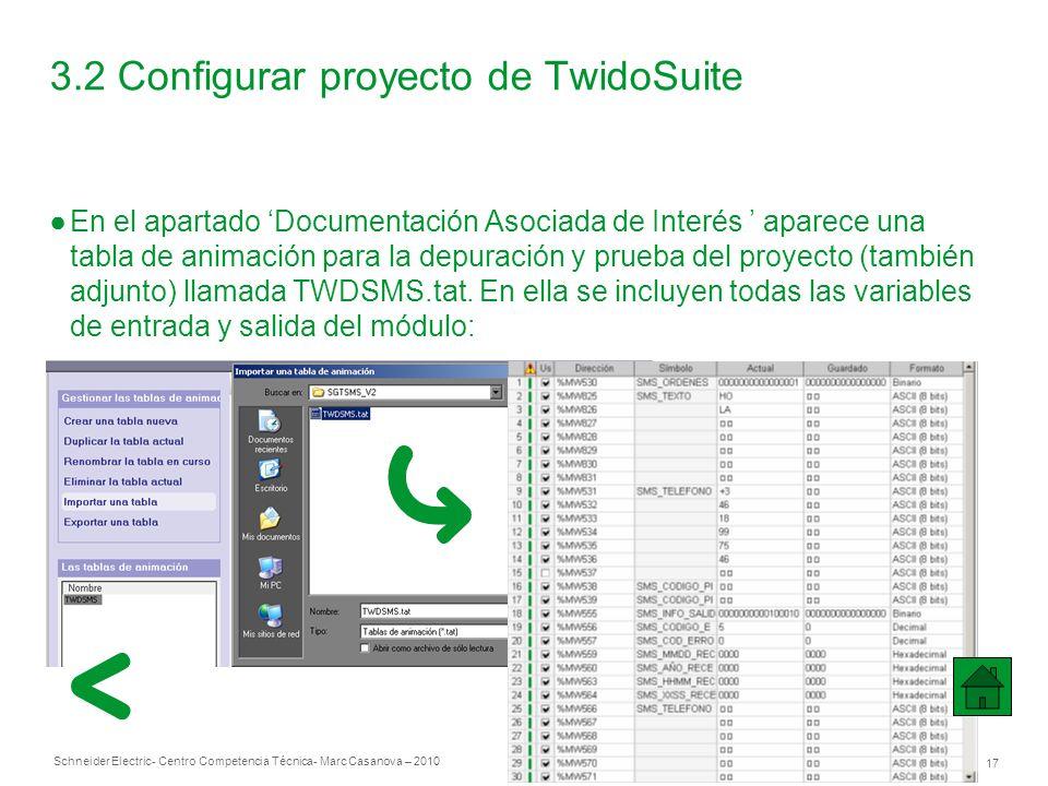 3.2 Configurar proyecto de TwidoSuite