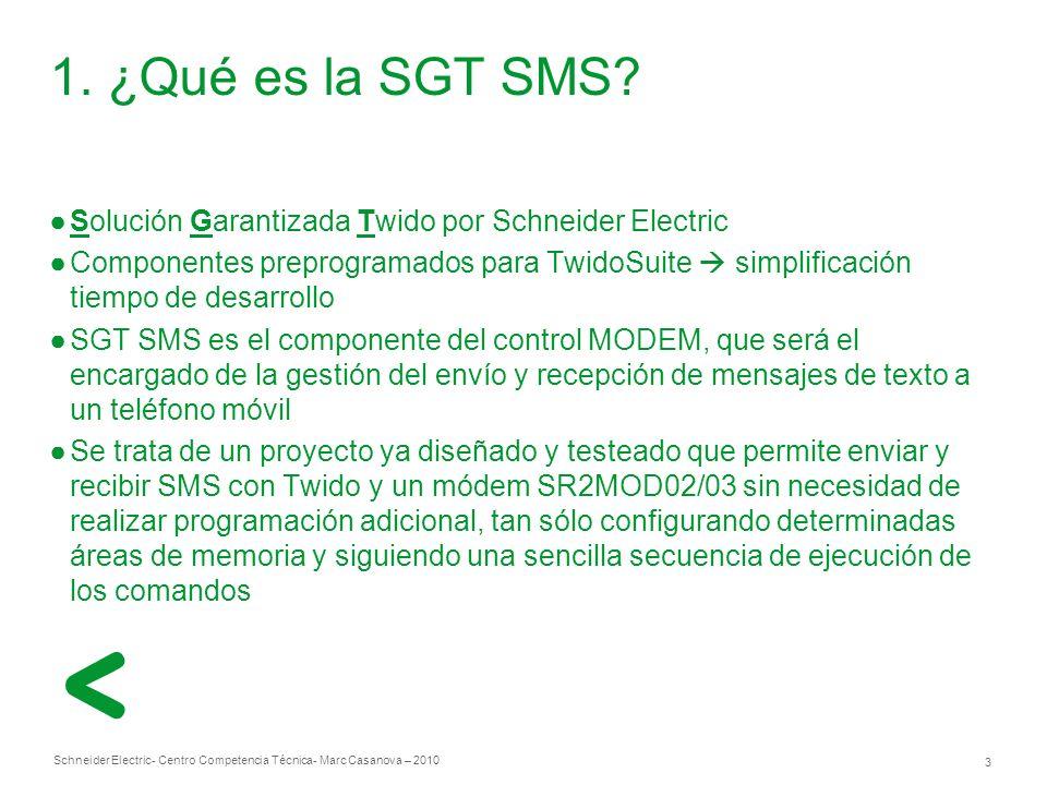 1. ¿Qué es la SGT SMS Solución Garantizada Twido por Schneider Electric.