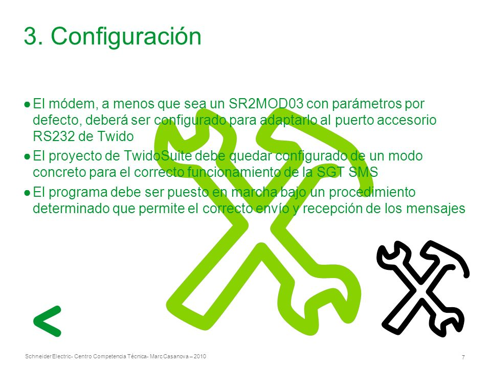 3. Configuración