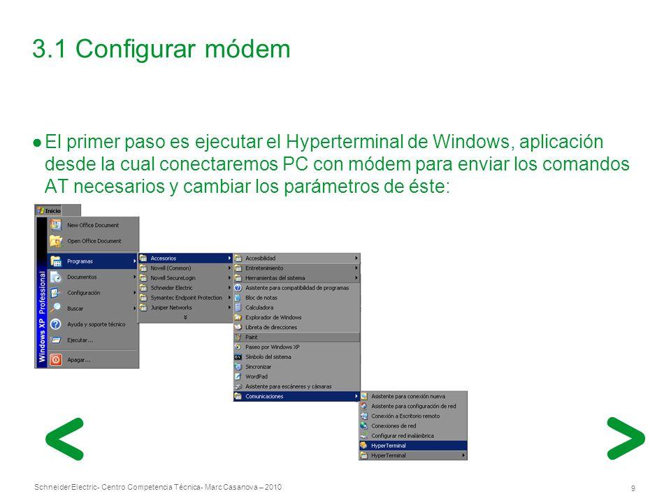 3.1 Configurar módem