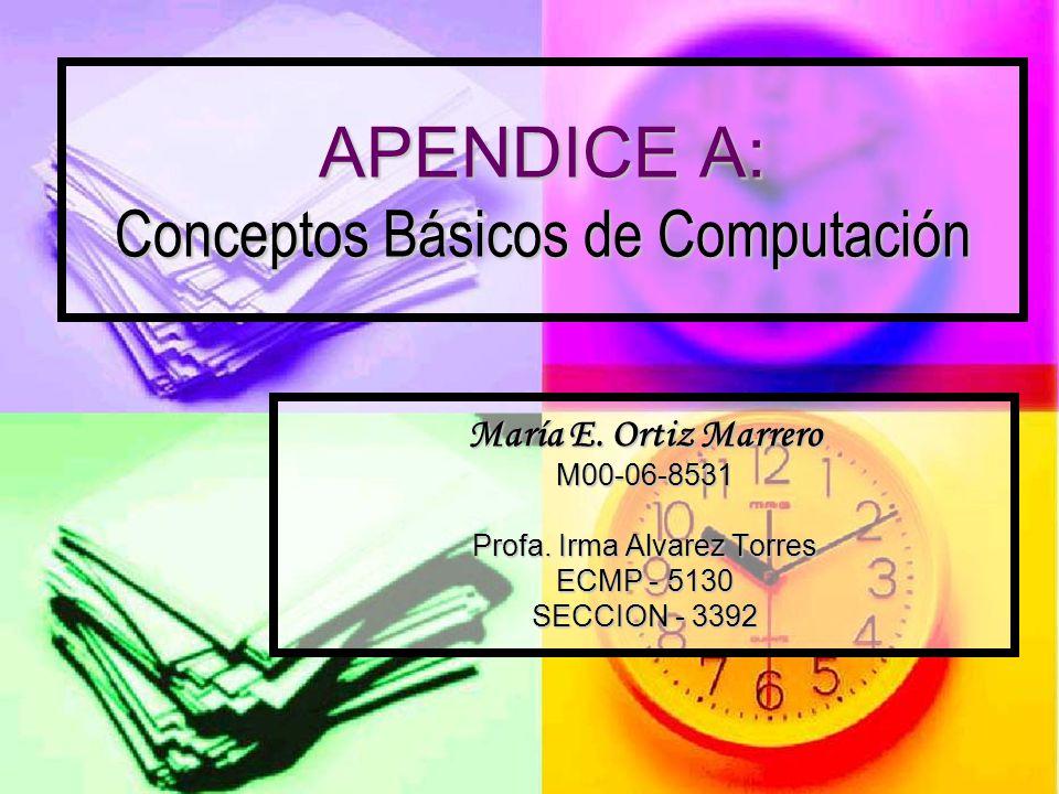 APENDICE A: Conceptos Básicos de Computación