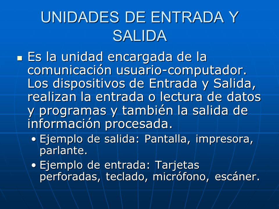 UNIDADES DE ENTRADA Y SALIDA