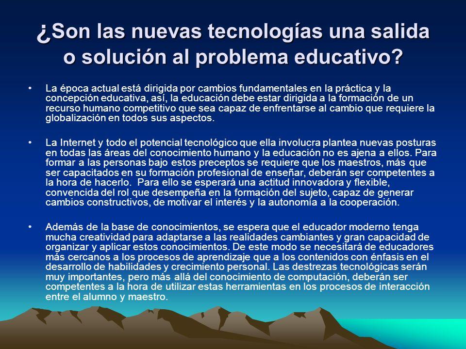 ¿Son las nuevas tecnologías una salida o solución al problema educativo