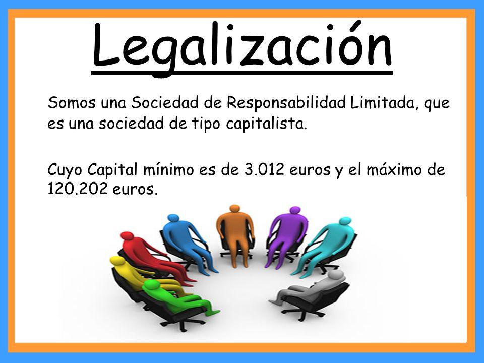 Legalización Somos una Sociedad de Responsabilidad Limitada, que es una sociedad de tipo capitalista.