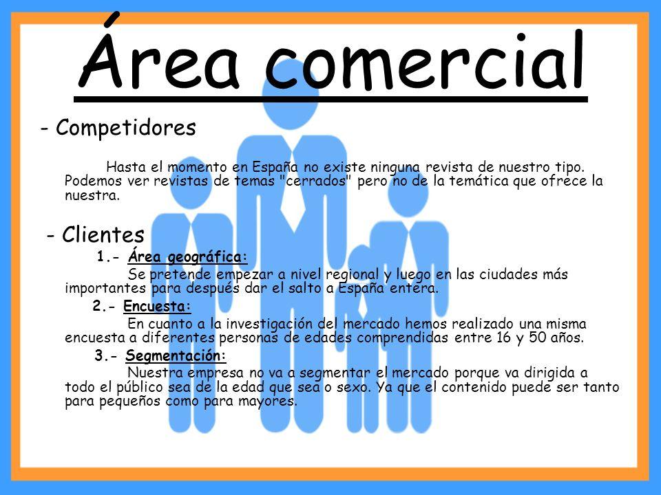 Área comercial - Competidores - Clientes
