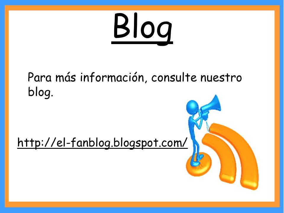 Blog Para más información, consulte nuestro blog.
