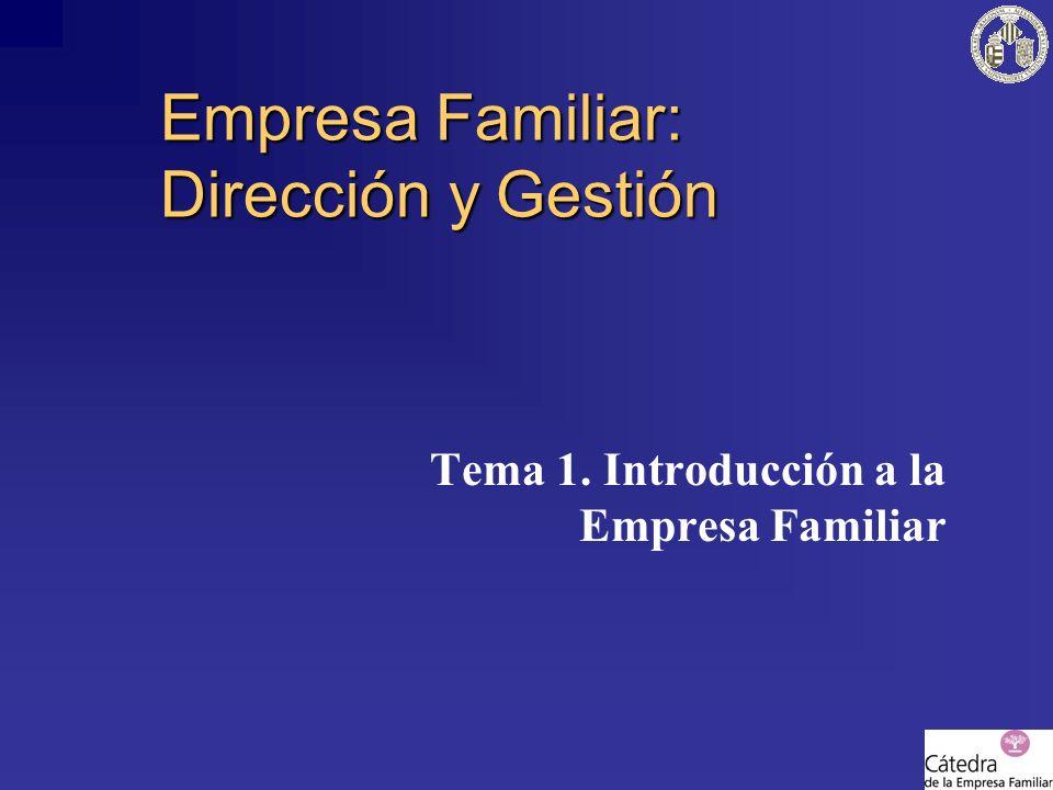 Empresa Familiar: Dirección y Gestión