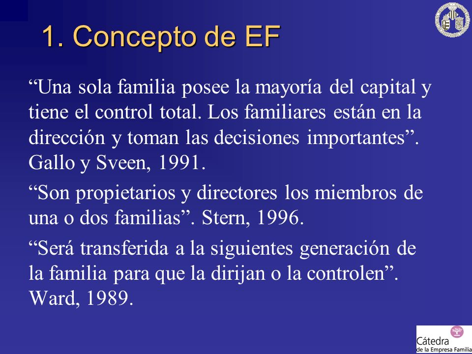 1. Concepto de EF