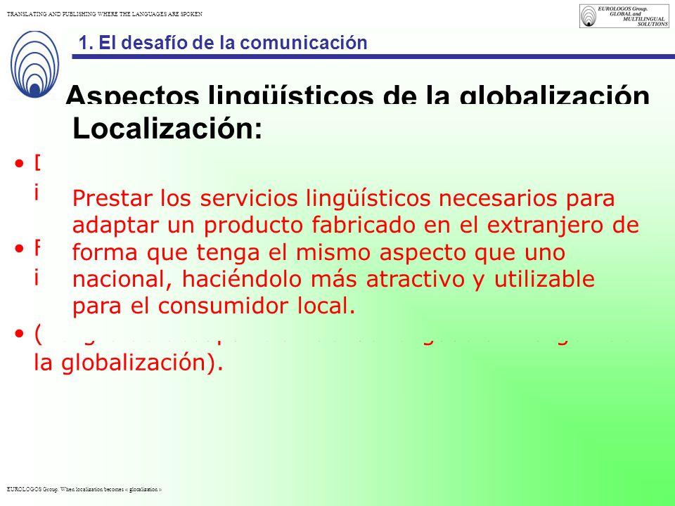 Aspectos lingüísticos de la globalización