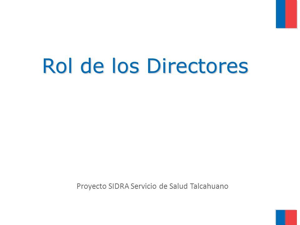 Proyecto SIDRA Servicio de Salud Talcahuano