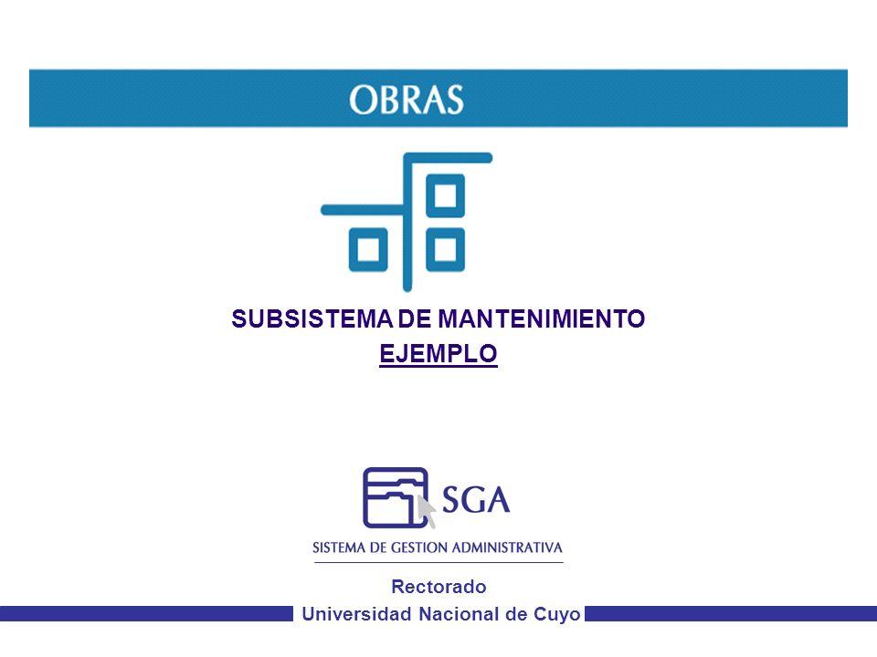 Rectorado Universidad Nacional de Cuyo