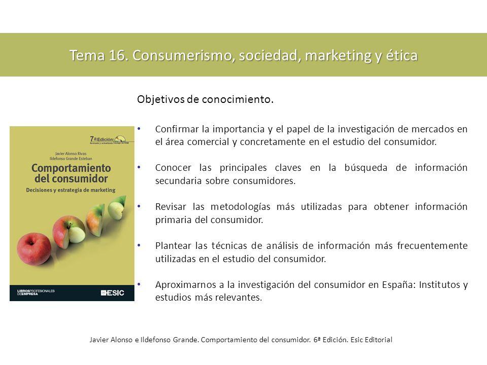 Tema 16. Consumerismo, sociedad, marketing y ética