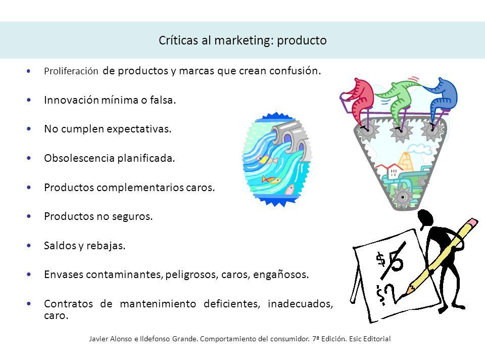 Críticas al marketing: producto