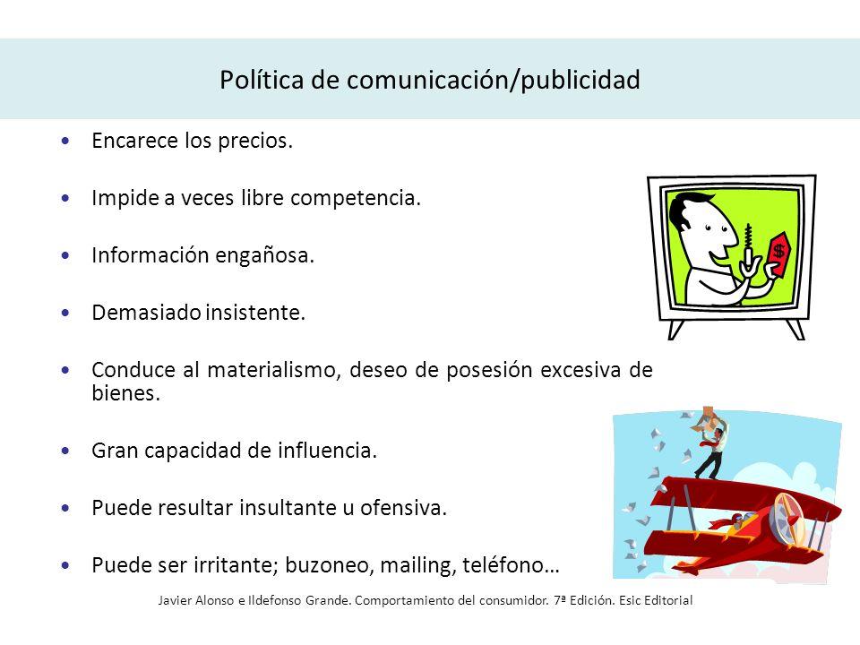 Política de comunicación/publicidad