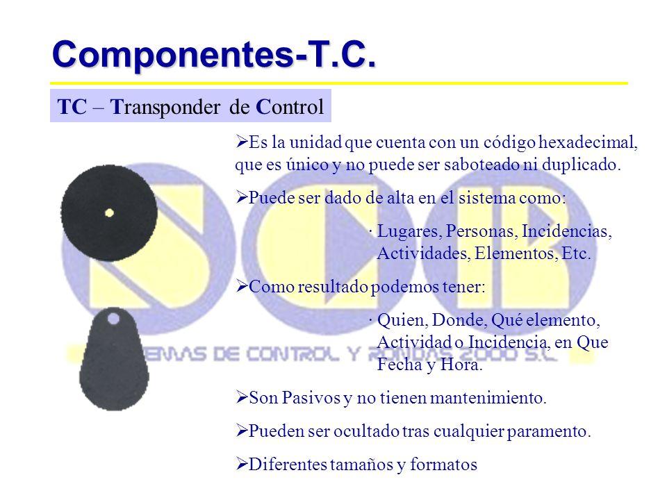 Componentes-T.C. TC – Transponder de Control