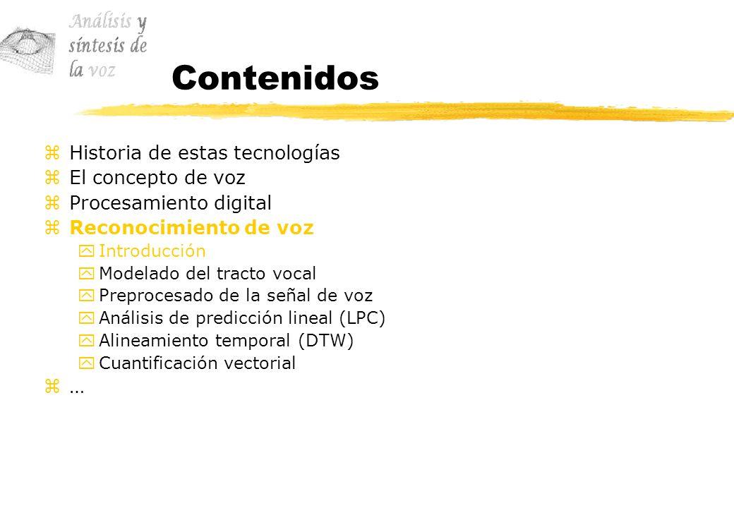 Contenidos Historia de estas tecnologías El concepto de voz