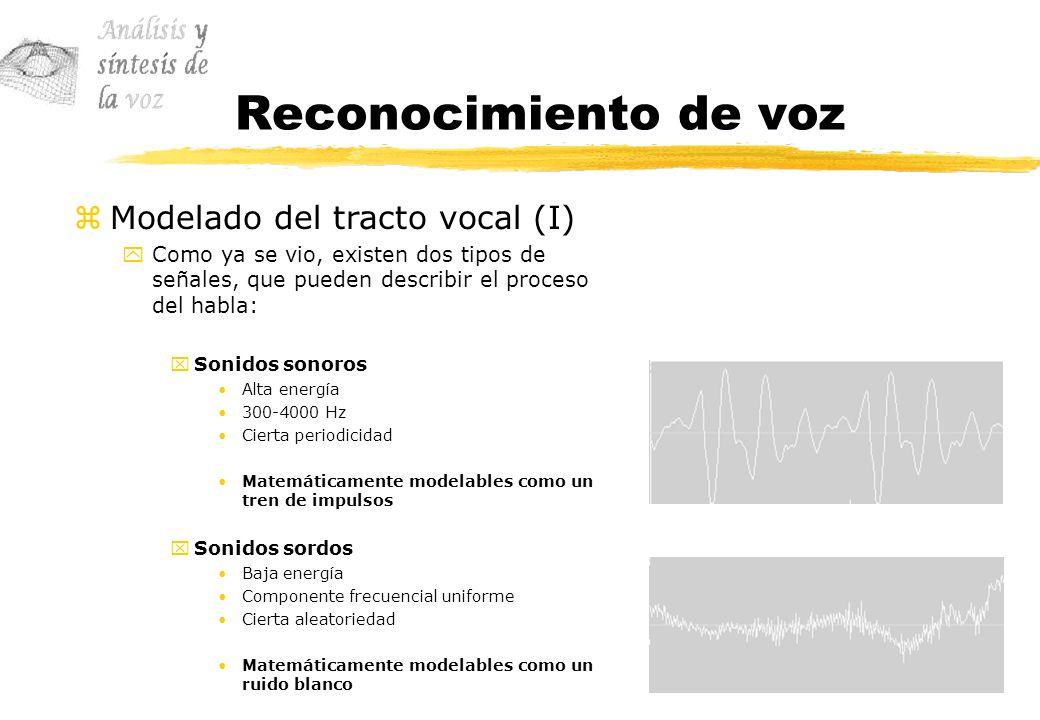 Reconocimiento de voz Modelado del tracto vocal (I)