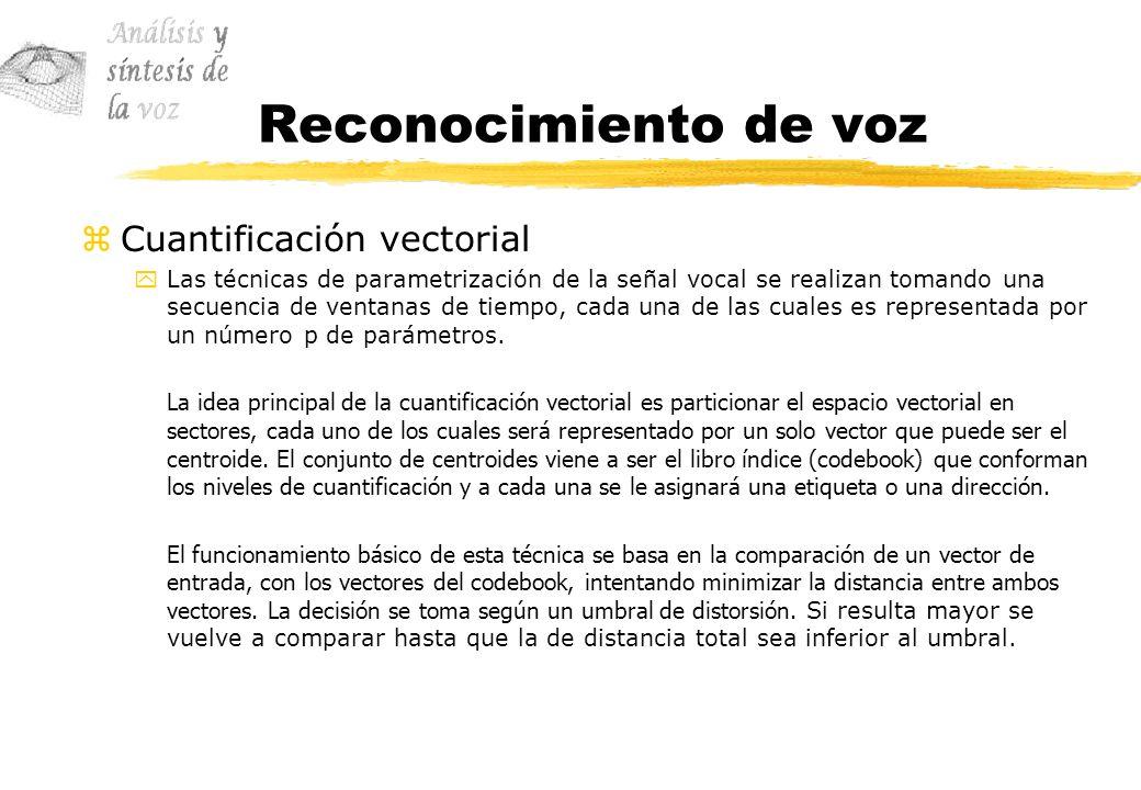 Reconocimiento de voz Cuantificación vectorial